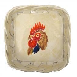 Хлебница квадратная с плетеными бортиками