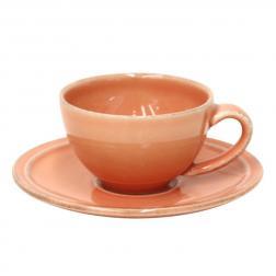 Чашки с блюдцем терракотовые для кофе, набор 6 шт. Friso