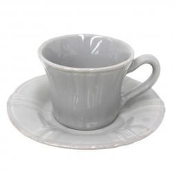 Чашки с блюдцами для кофе серые, набор 6 шт. Village