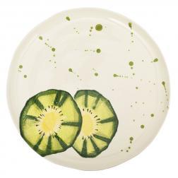 Тарелка обеденная с рисунком киви