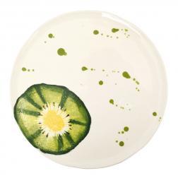 Тарелка десертная с сочным принтом