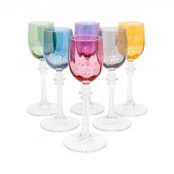 Набор разноцветных бокалов для крепких напитков, 6 шт