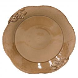 Тарелка обеденная шоколадного оттенка Mediterranea