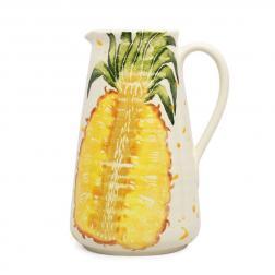Высокий кувшин с рисунком ананаса