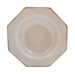 Тарелка для супа Costa Nova Luzia светло-серая 24 см