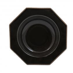 Тарелка для супа Costa Nova Luzia темно-серая 24 см