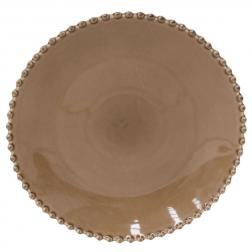 Тарелка обеденная с декорированным краем Pearl