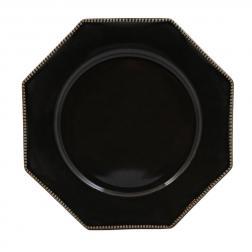 Тарелка обеденная Costa Nova Luzia темно-серая 30 см