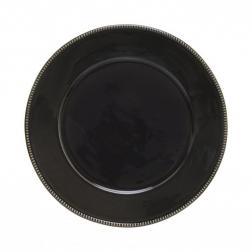 Тарелка подставная Costa Nova Luzia темно-серая 34 см