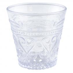 Стакан белый прозрачный из стекла с узором