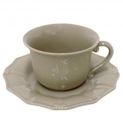 Чашки с блюдцем для чая, набор 6 шт. Barroco cocoa