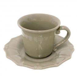 Чашки с блюдцем для кофе, набор 6 шт. Barroco cocoa