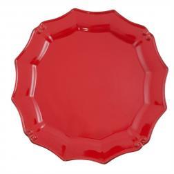 Красные подставные тарелки Barroco