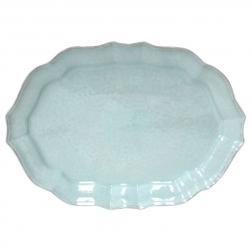 Блюдо для рыбы керамическое бирюзовое Impressions