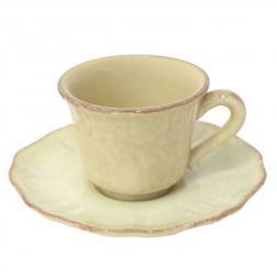 Чашки для кофе с блюдцами, набор 6 шт. Impressions yellow