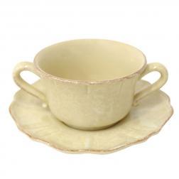 Чашки для бульона с блюдцами, набор 6 шт. Impressions yellow