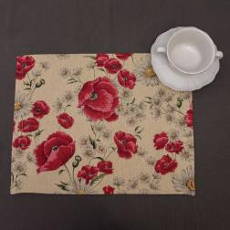 Гобеленовая салфетка «Маковый цвет»