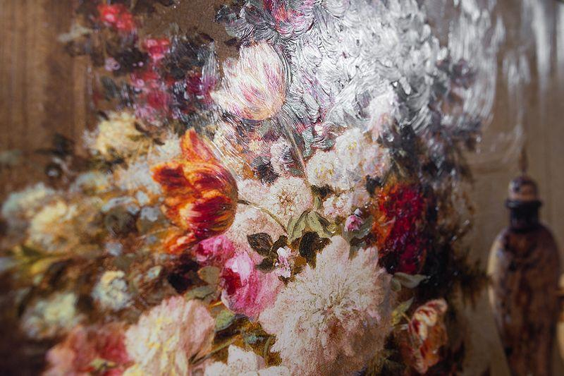 Репродукция картины Decor Toscana Цветы и малина 60×80 см  - фото