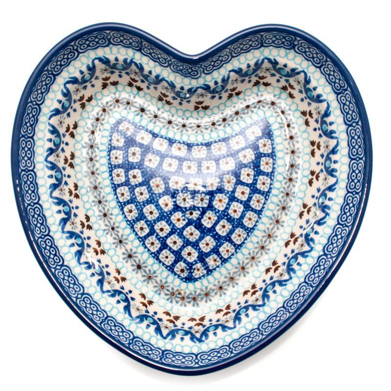 """Декоративная пиала-сердце из прочной керамики """"Марракеш""""  - фото"""
