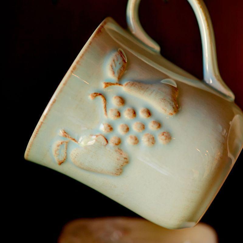 Бирюзовая чашка с эффектом потертости Mediterranea  - фото