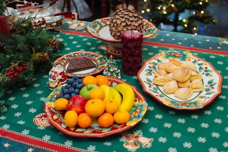 """Большое блюдо для фруктов """"Новогодний рождественник""""  - фото"""