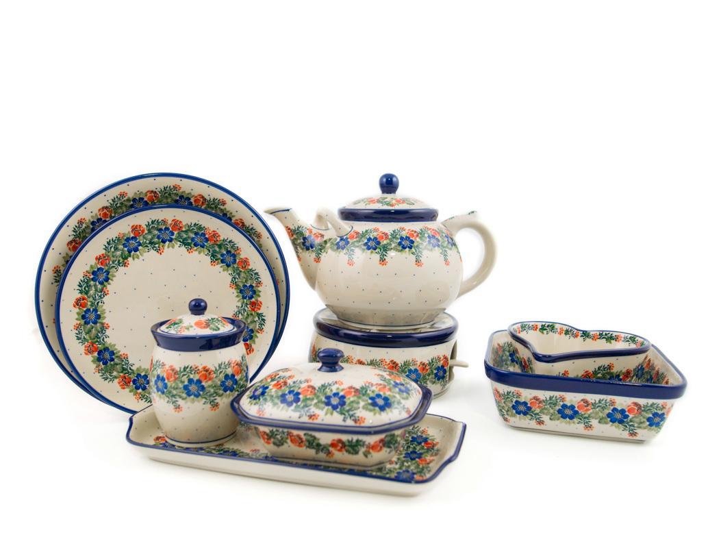 Горелка с чайником и другая посуда той же коллекции  - фото