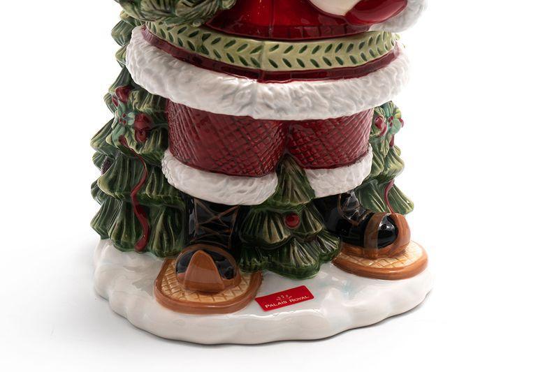 """Нарядный бисквитник-статуэтка в форме Деда Мороза """"Заколдованный лес""""  - фото"""
