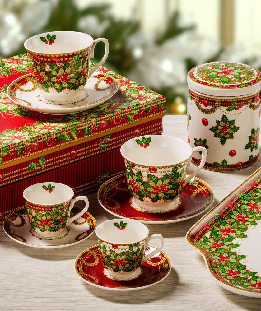 Праздничный комплект кофейных чашек с блюдцами «Исполнение желаний», 2шт.  - фото