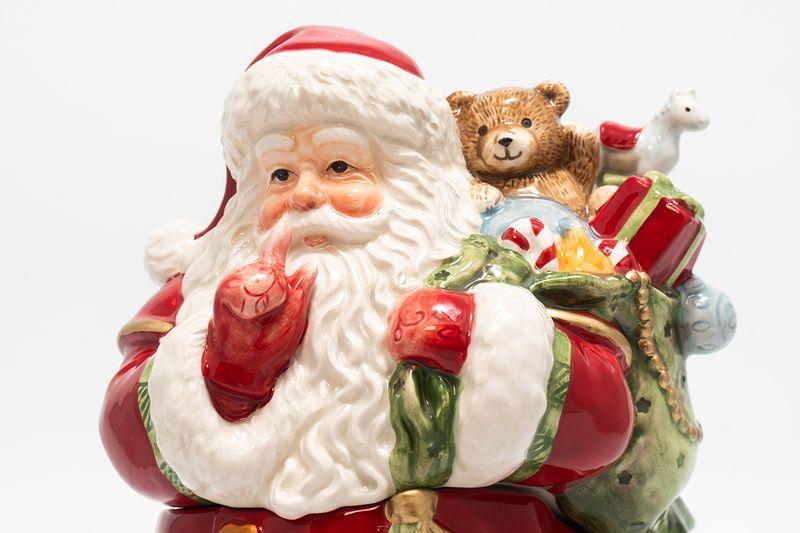 "Шкатулка ""Санта с мешком подарков за спиной""  - фото"