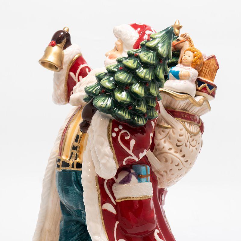 Оригинальная статуэтка для новогоднего оформления «Дед Мороз с колокольчиком»   - фото