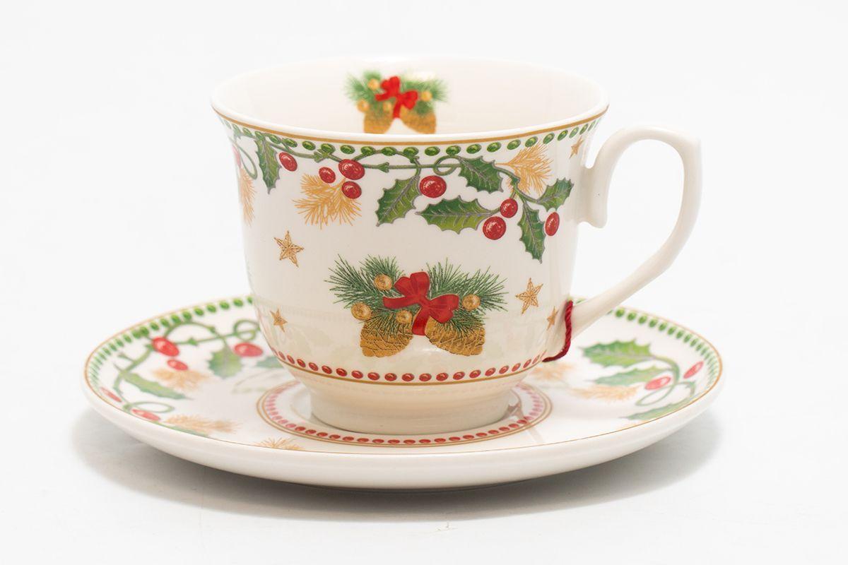 """Чайный набор """"Счастливые дни"""", 2 чашки с блюдцем  - фото"""