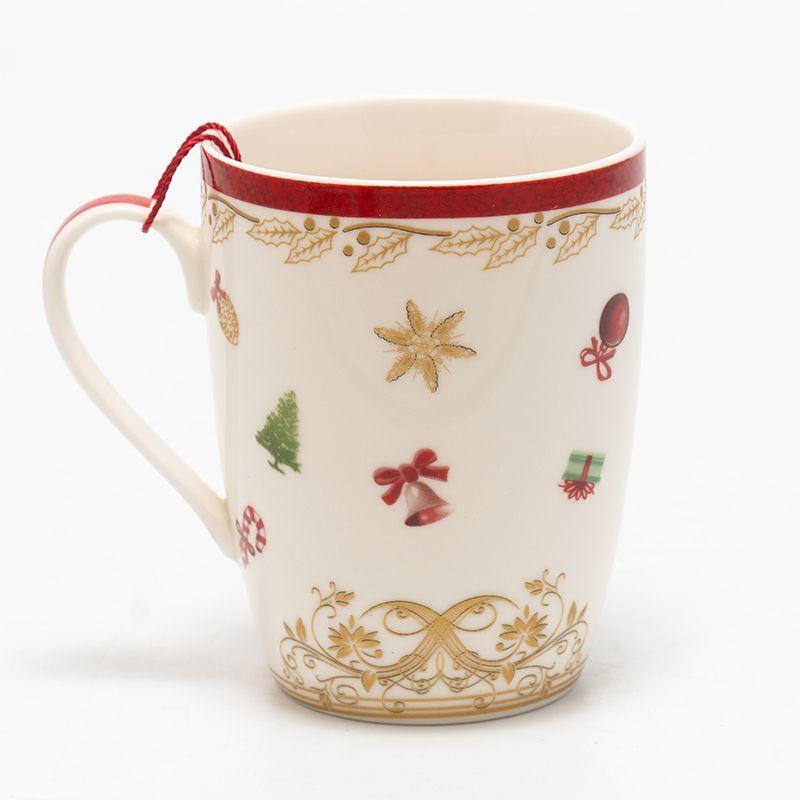 Светлая чайная чашка из коллекции новогоднего фарфора «Вкус праздников»  - фото