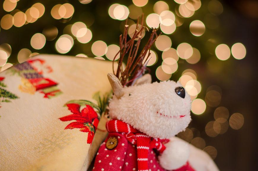 """Мягкая игрушка """"Олененок"""" для декора на Новый Год  - фото"""