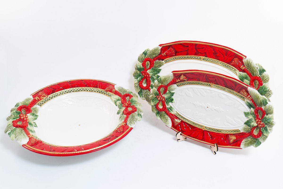 """Роскошное праздничное блюдо из керамики ручной работы """"Семейные традиции""""  - фото"""