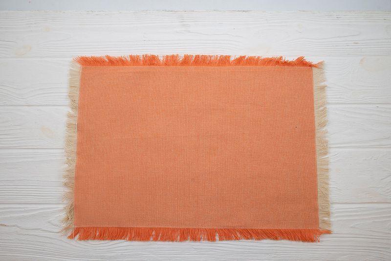 Салфетка хлопковая Villa d'Este 33×48 см оранжевая  - фото