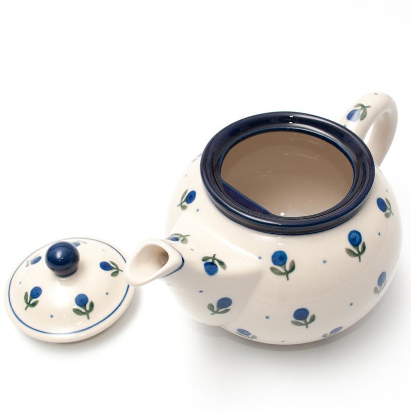 """Заварник для чая с росписью из синих ягод """"Голубика""""  - фото"""