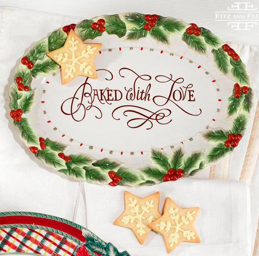 "Блюдо овальное ""Baked with love""  - фото"