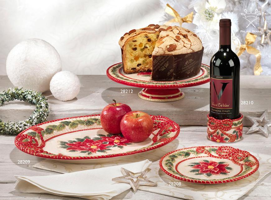 """Большое овальное блюдо """"Рождественская роза""""  - фото"""