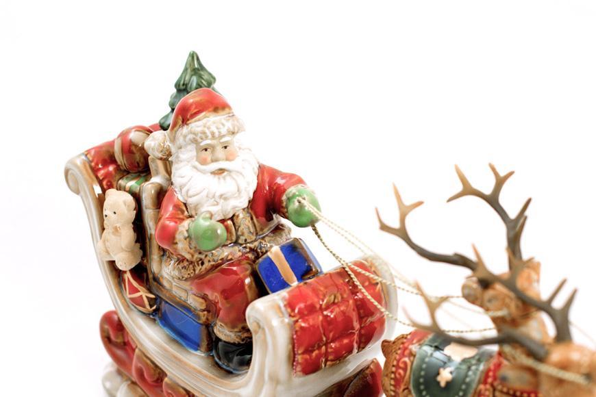 "Большая статуэтка ""Санта на санках""  - фото"
