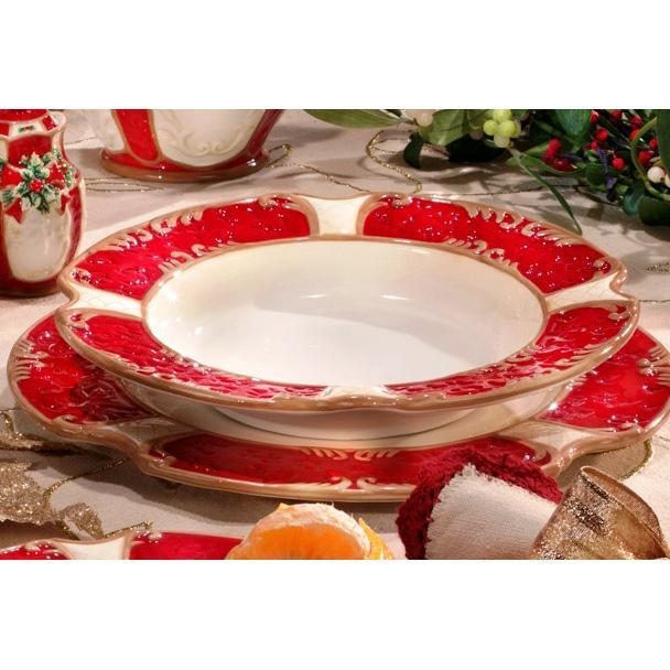 Глубокая тарелка для супа в Новогоднем стиле  - фото