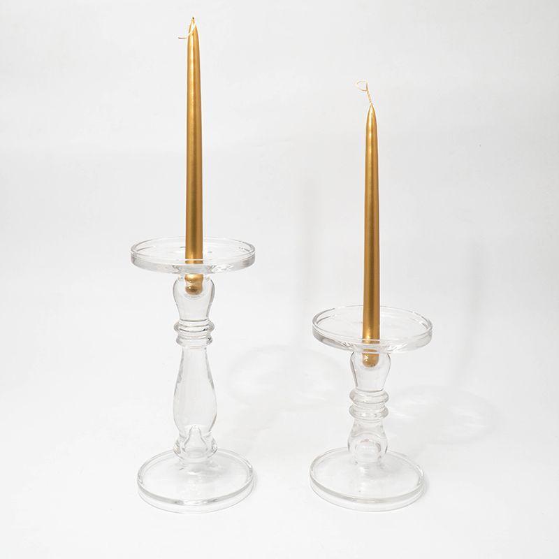Набор из 2х свечей. Цвет красный  - фото