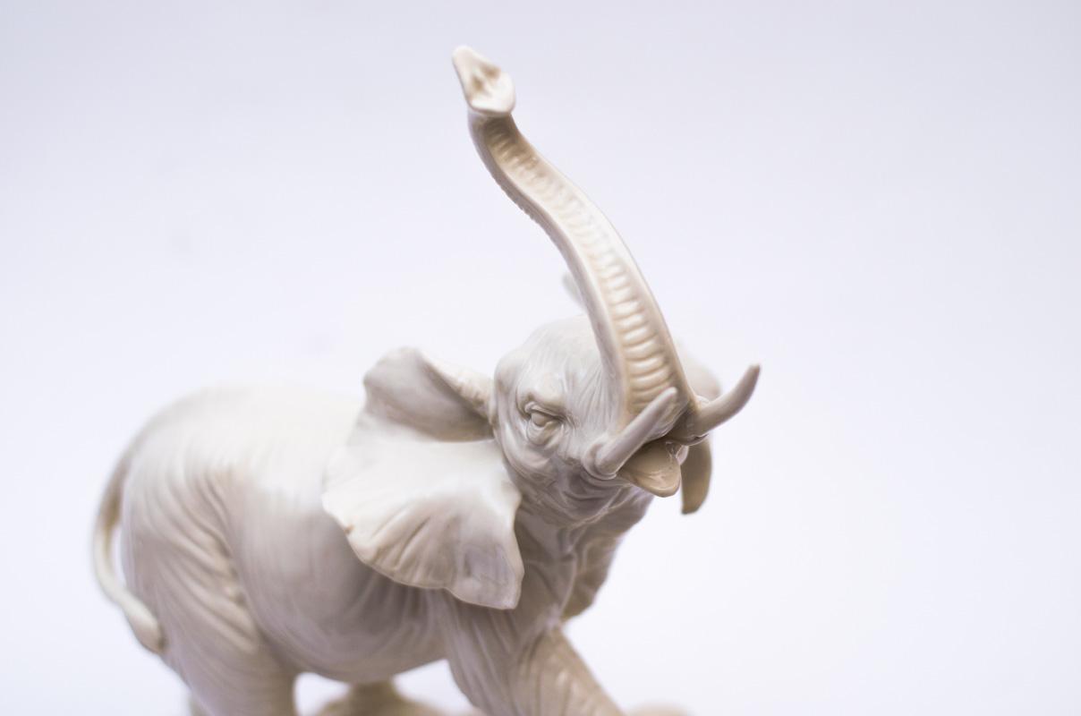 Большой слон керамический  - фото