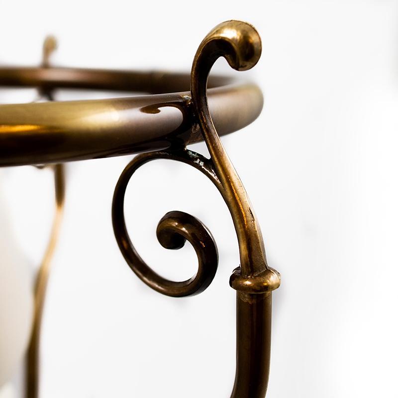 Зонтовница из антикварного дерева и латуни  - фото