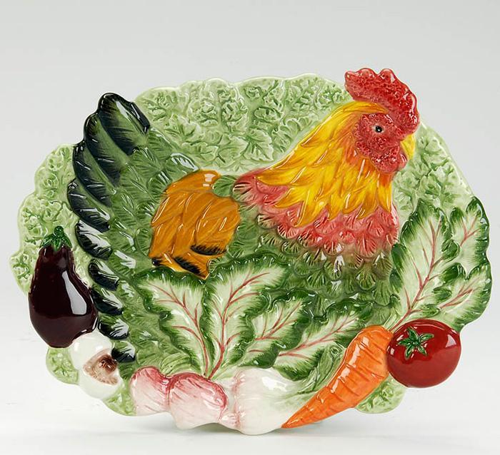 3D тарелка Курочка  - фото