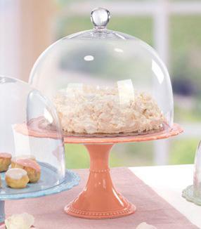 Крышка стеклянная для тортовницы  - фото