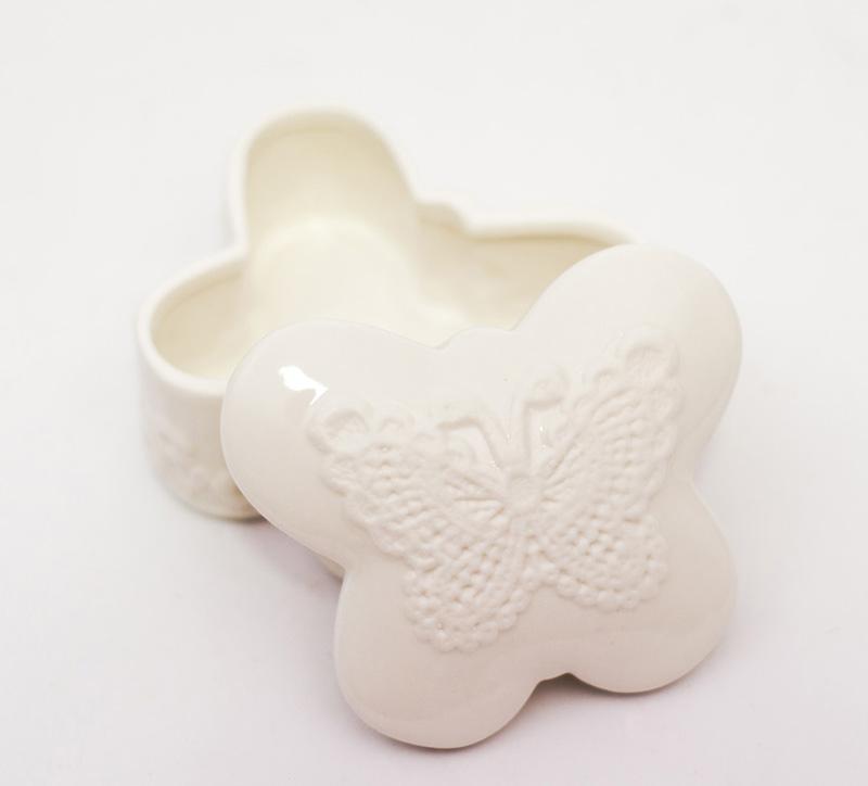 Шкатулка-бабочка для украшений и безделушек  - фото