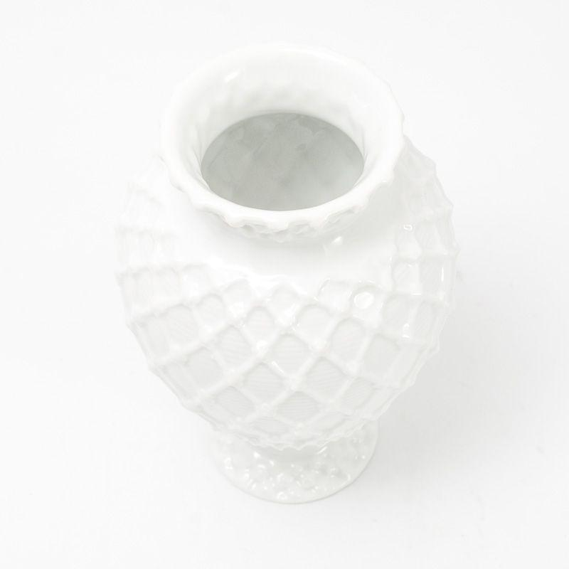 Ярко-белая ваза Trame in bianco  - фото