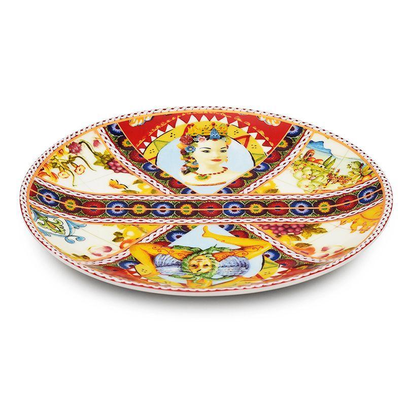 Набор оригинальных десертных тарелок 2 шт. Santa Rosalia  - фото