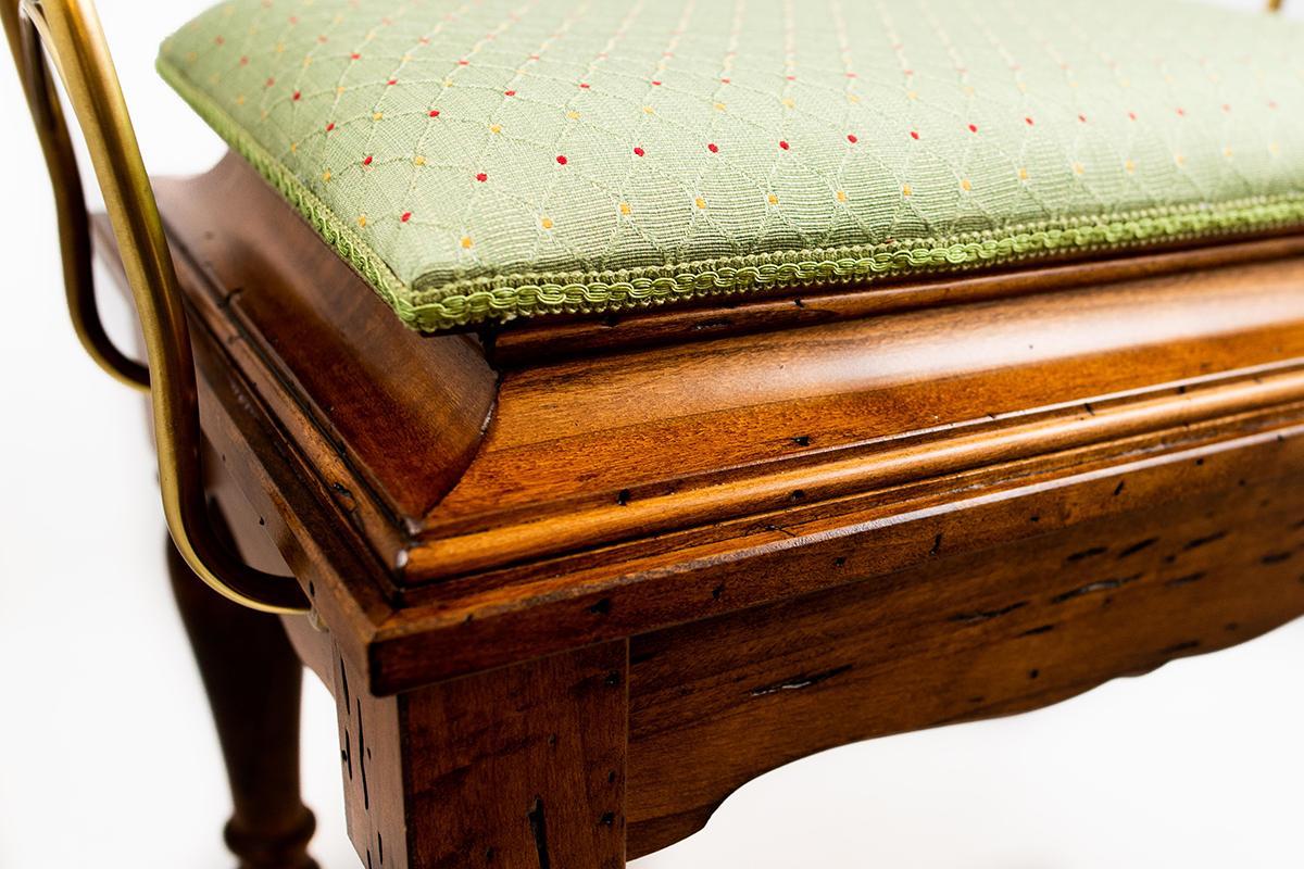 Банкетка Capanni зеленая 58 см  - фото