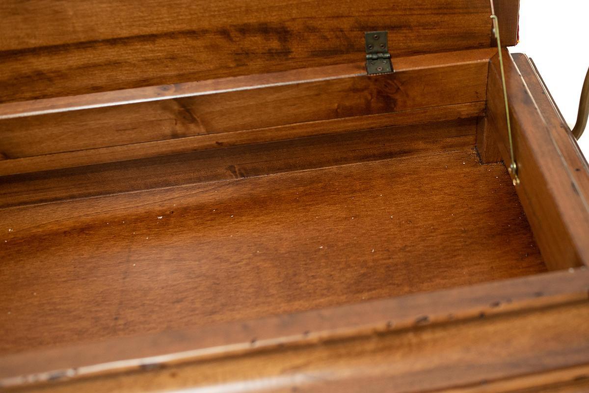 Банкетка Capanni красная 100 см  - фото